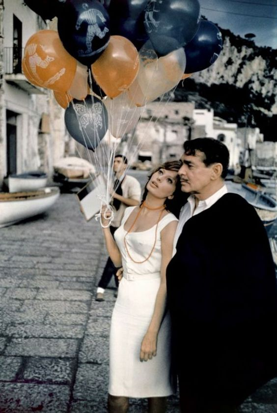 Sophia Loren e Calrk Gable in 'It Started in Naples' - L'Ora di Capri