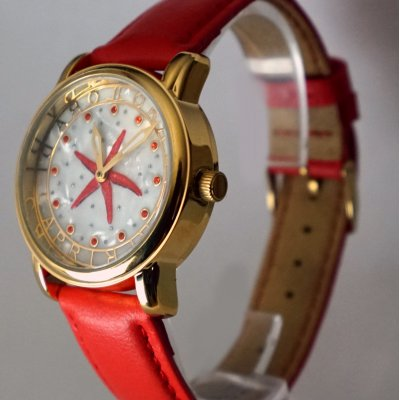 Gold Starfish - Red Leather